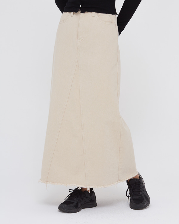 a cutting long cotton skirts (s, m)