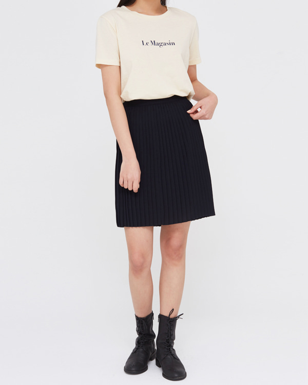 cham pleats mini skirts (s, m)