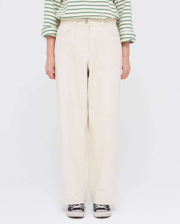 clean back button pants (s, m)