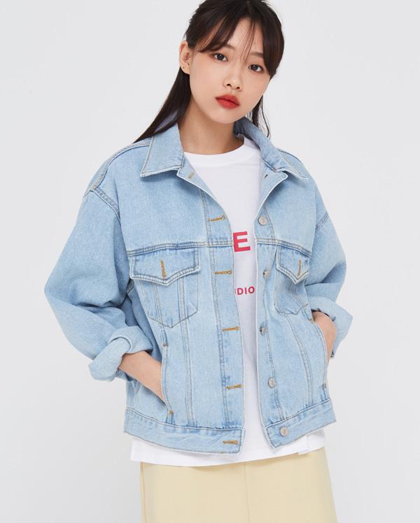 bright spring denim jacket
