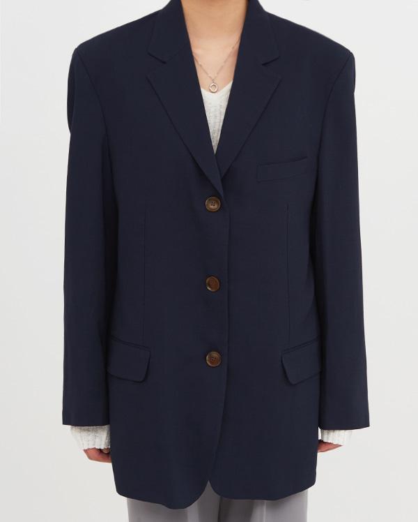 summer wool boxy jacket