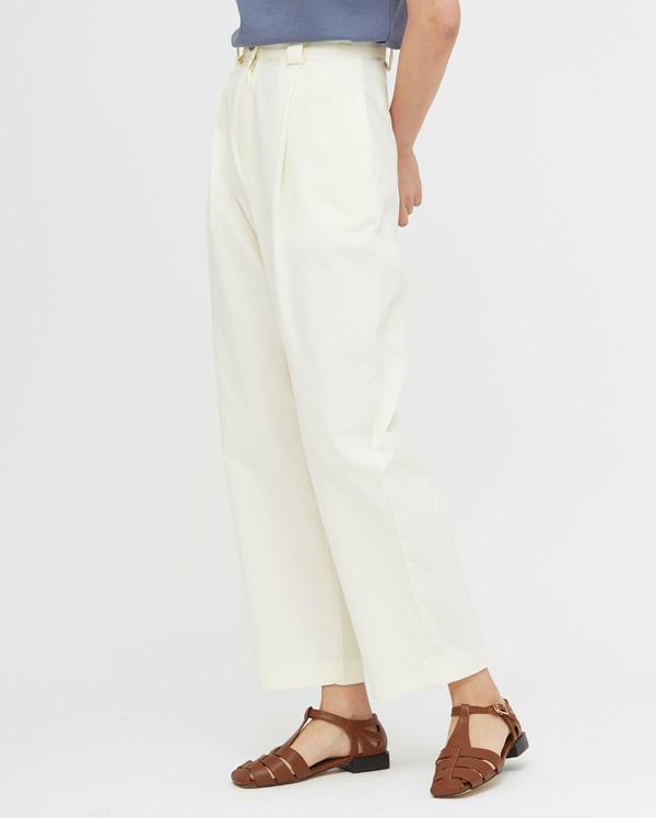 low pintuck cotton pants
