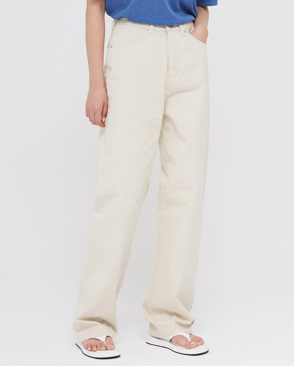new stitch cotton long pants