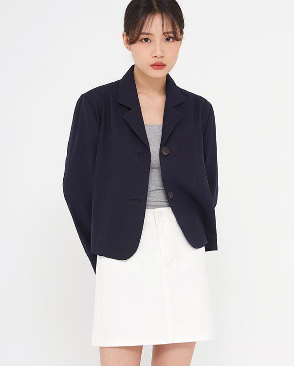 neyo linen crop jacket