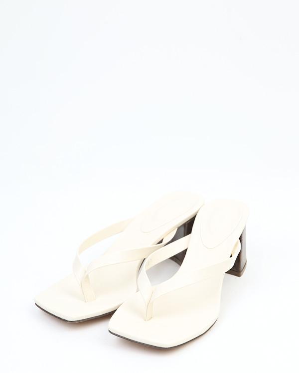 flip flop wood heel