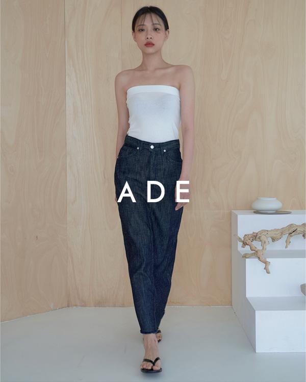 linen denim long skirt (s, m, l)