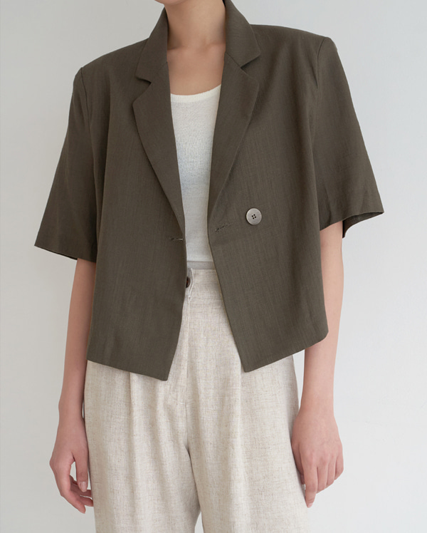 rene linen short jacket