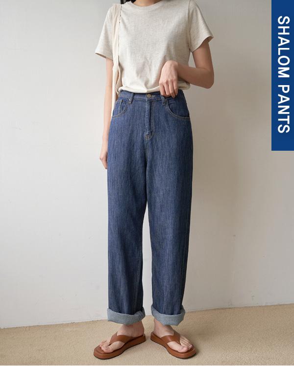 113_linen denim pants (s, m, l)