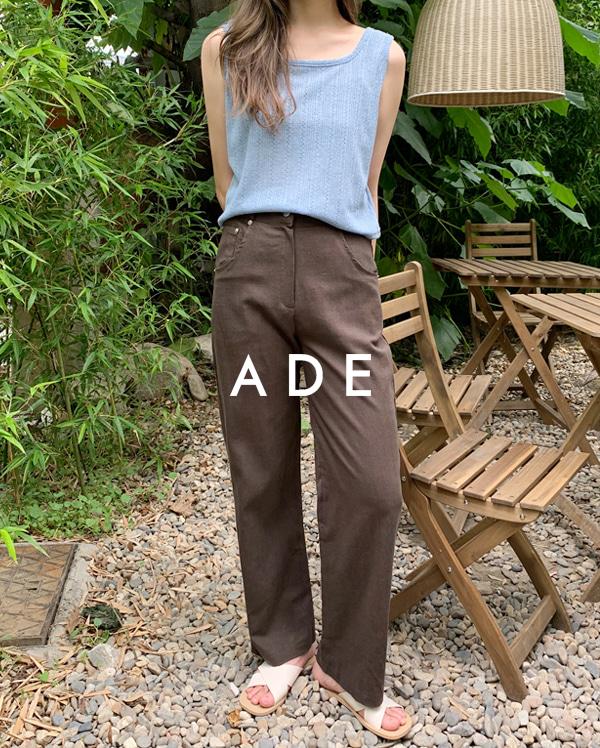 side buckle linen slacks (s, m)