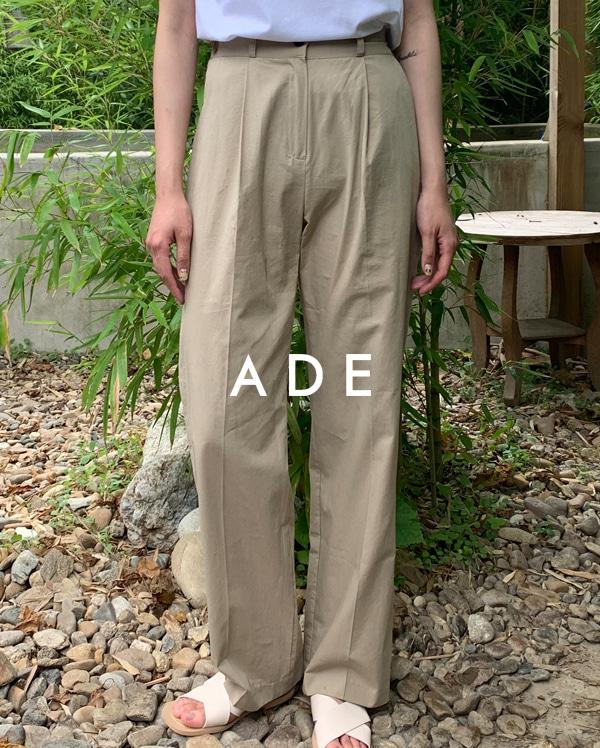 cotton pintuck banding pants (s, m, l)