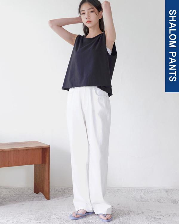 115_linen denim pants (s, m, l)