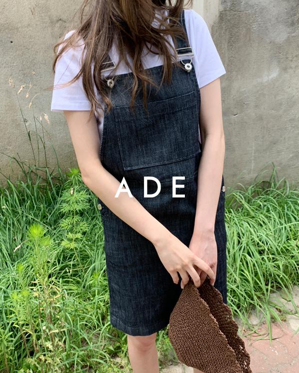 denim mini overall skirt