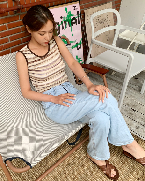 knitting color sleeveless