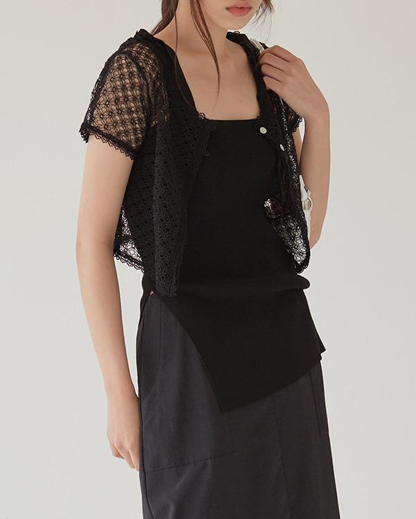 net lace cardigan