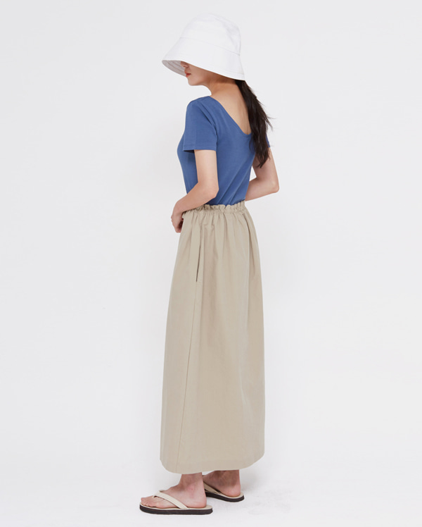 muze cotton long skirt