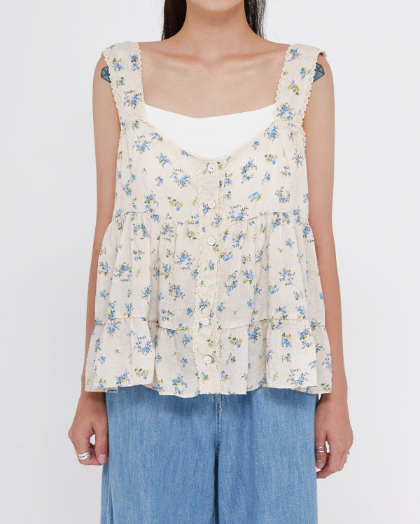 betty flower sleeveless