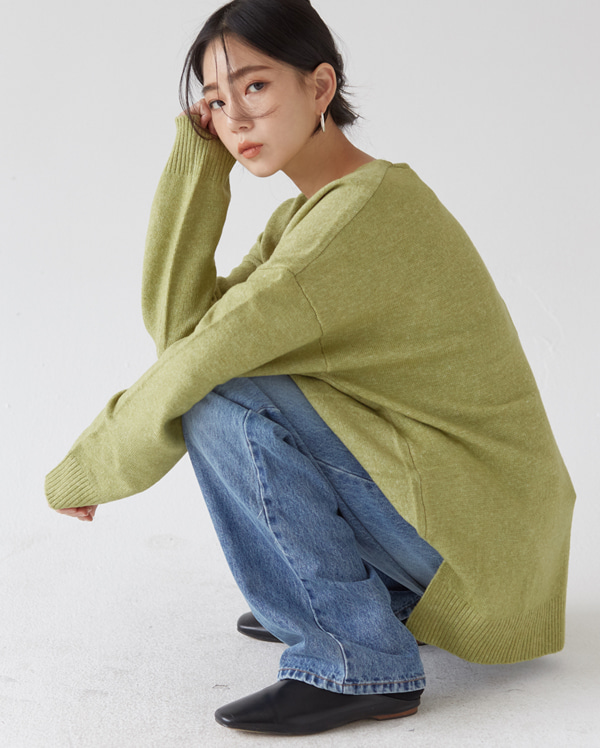secret wool v neck knit