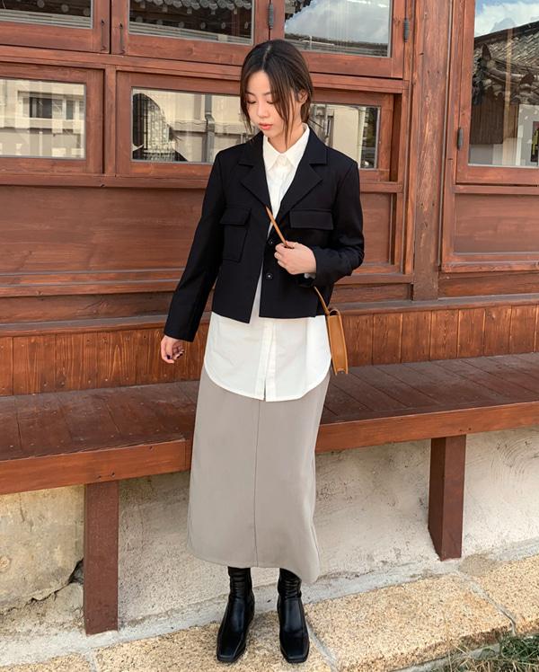 basic mood long skirt (s, m, l)