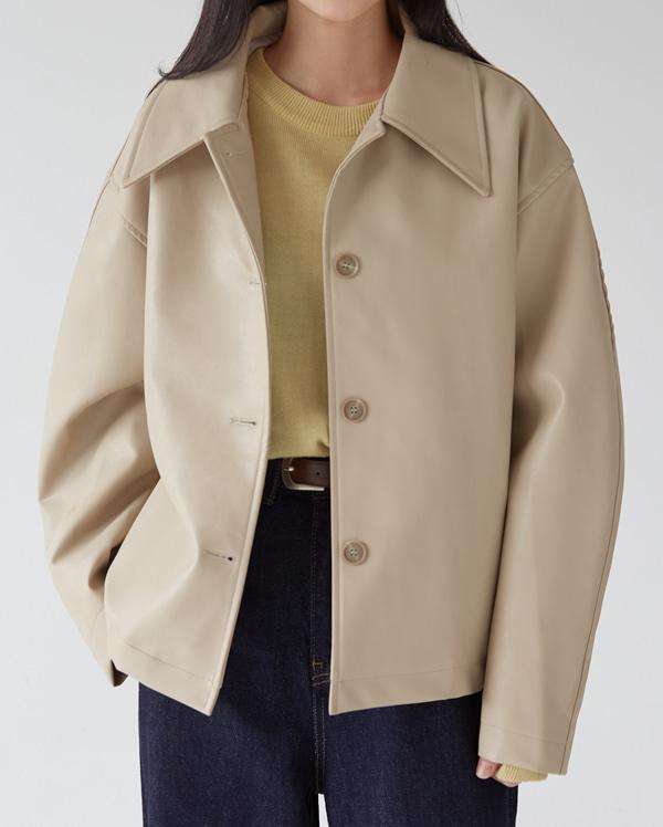 classy leather single jacket