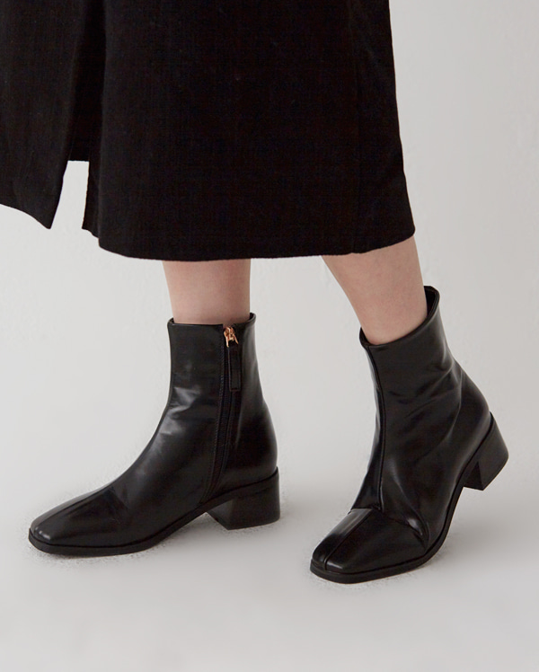 woren square ankle boots (225-250)