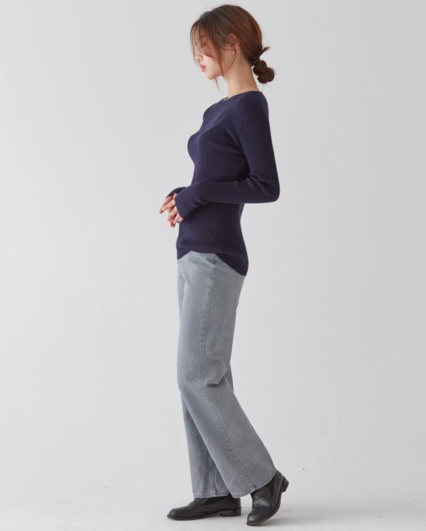 slim round golgi knit