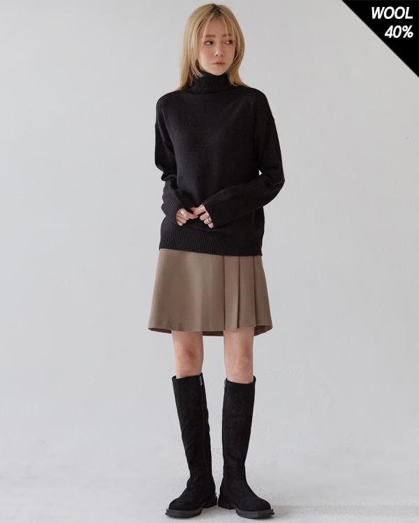 soft cash wool pola knit