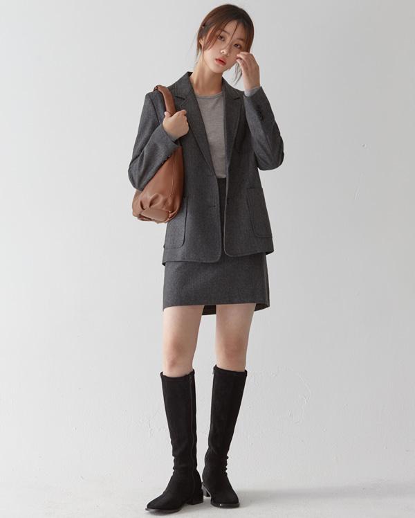 casual herringbone wool jacket