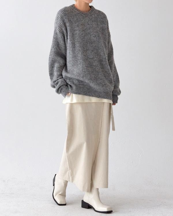 corduroy wrap long skirt