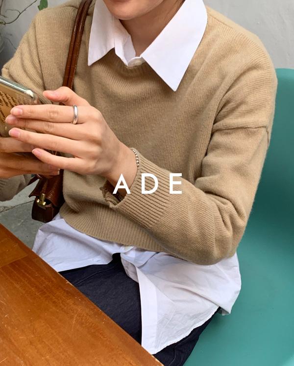 basic round neck crop knit