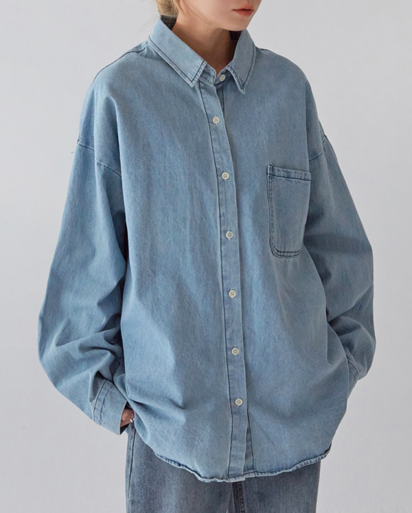 loens pocket denim shirts