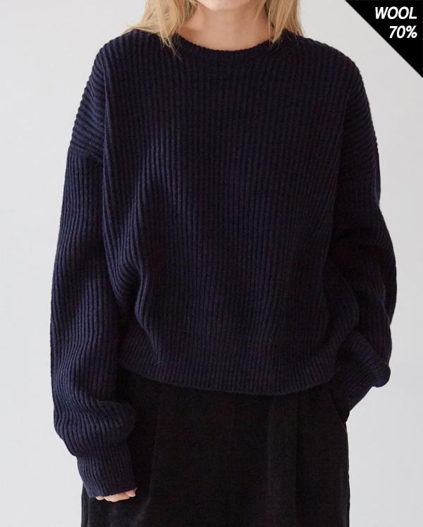 lambs wool round knit