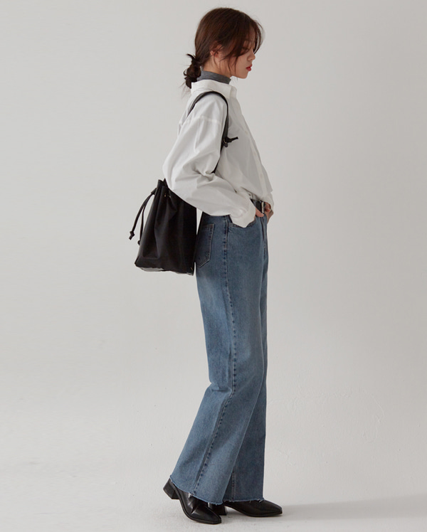 steady solid denim pants  (s, m, l)
