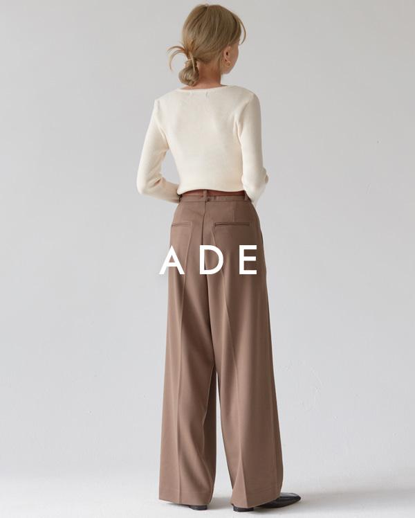 warmly chic mood pintuck slacks (s, m, l)