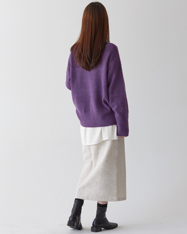 bokashi round-neck knit