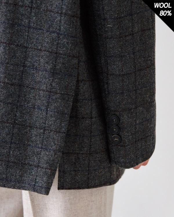 classic mood hound wool check jacket