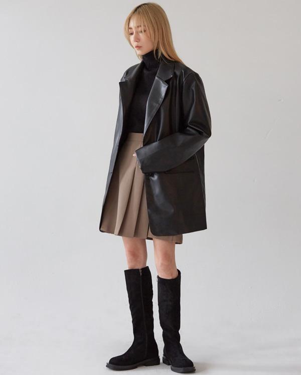 tody leather single jacket (l, xl)