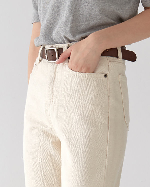 steady herringbone cotton pants (s ,m ,l)