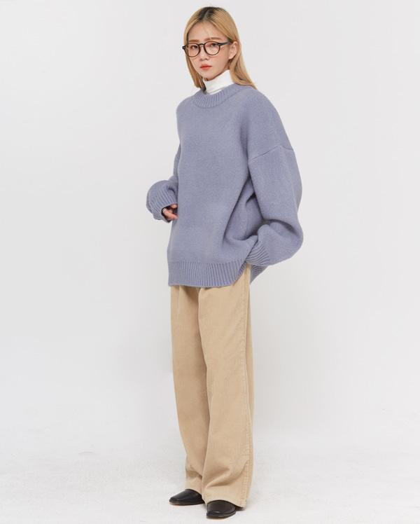 waist corduroy pintuck pants (s, m, l, xl)