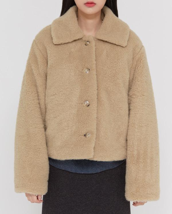 cash collar fur jacket