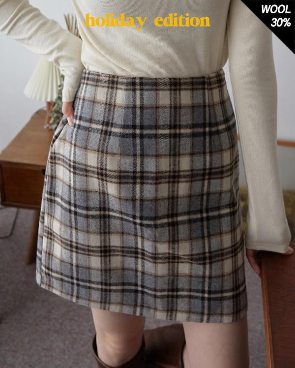 high teen check mini skirt