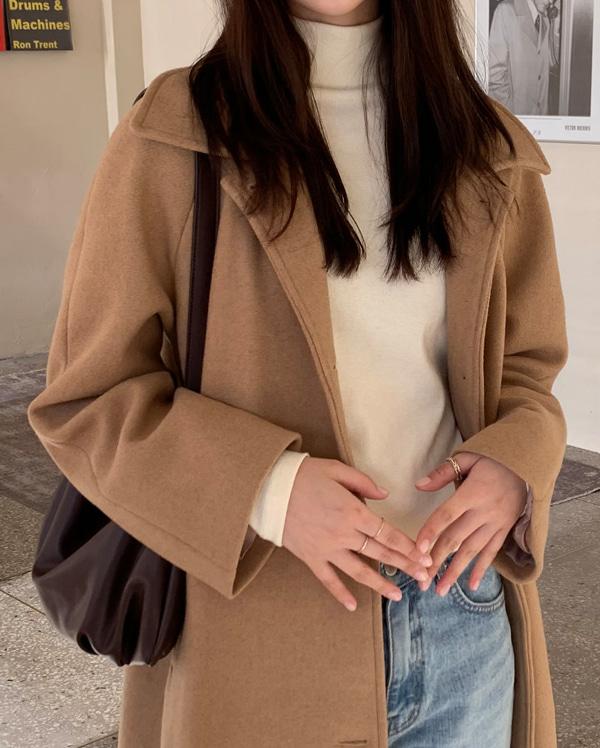 raglan wool coat