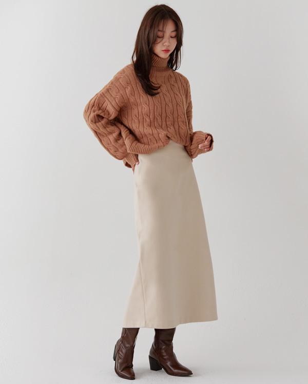 crunky twist loose fit pola knit