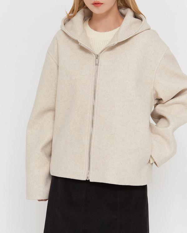 gaffel hidden hood zip-up jumper