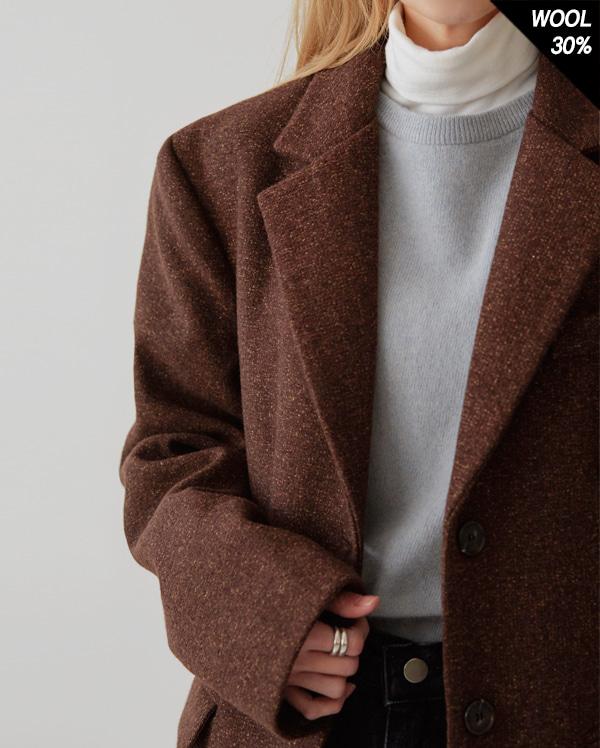classic wit long wool coat