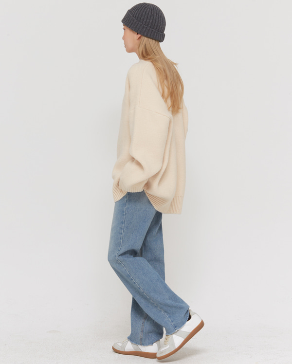 more blue straight denim pants (s, m, l, xl)