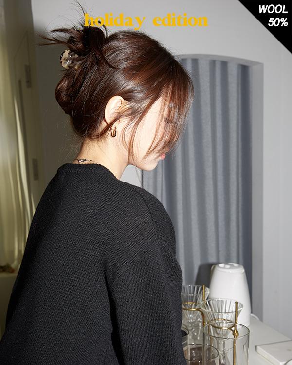 double v-neck knit