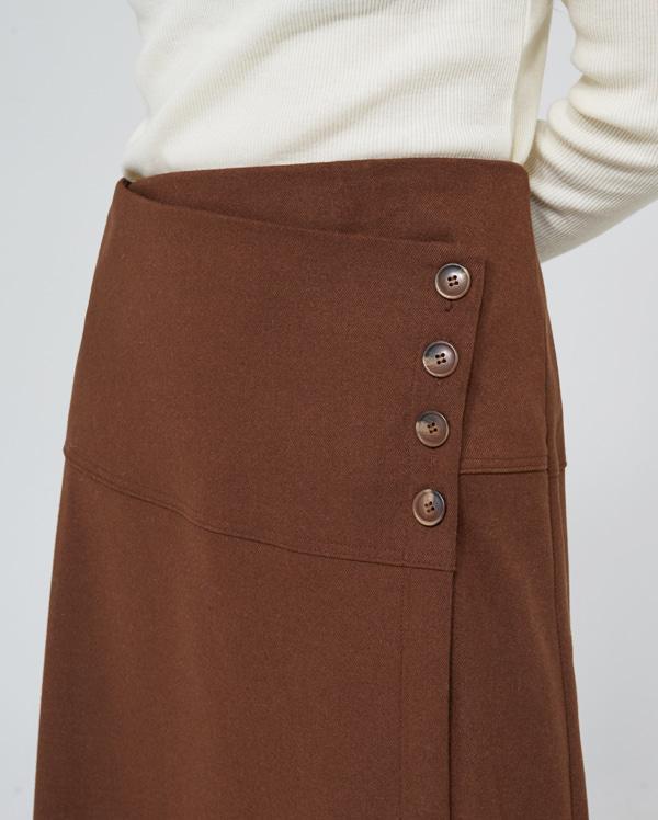 muffin slit long skirt