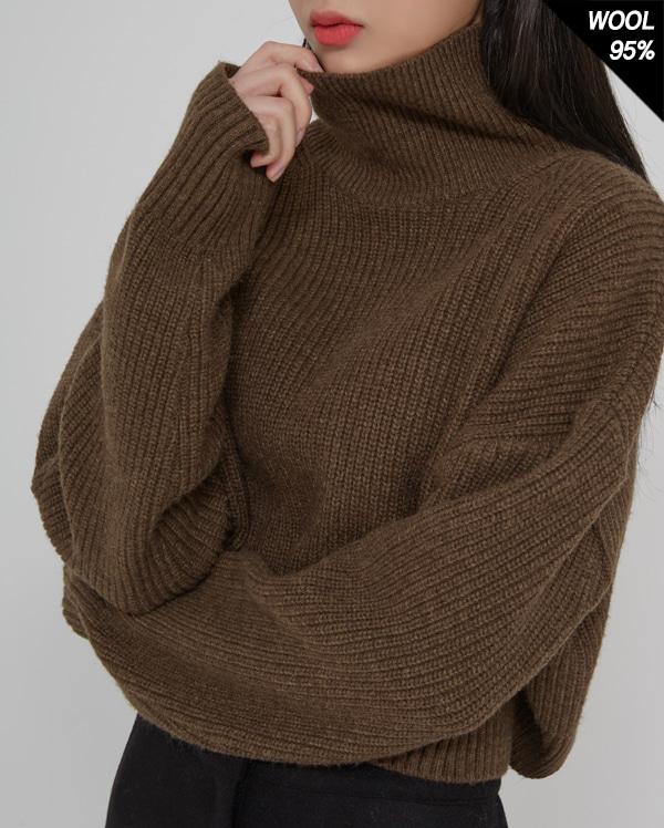 dandy crop pola knit