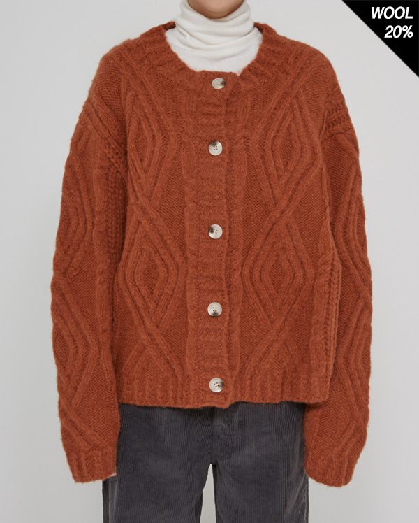toy twist round cardigan