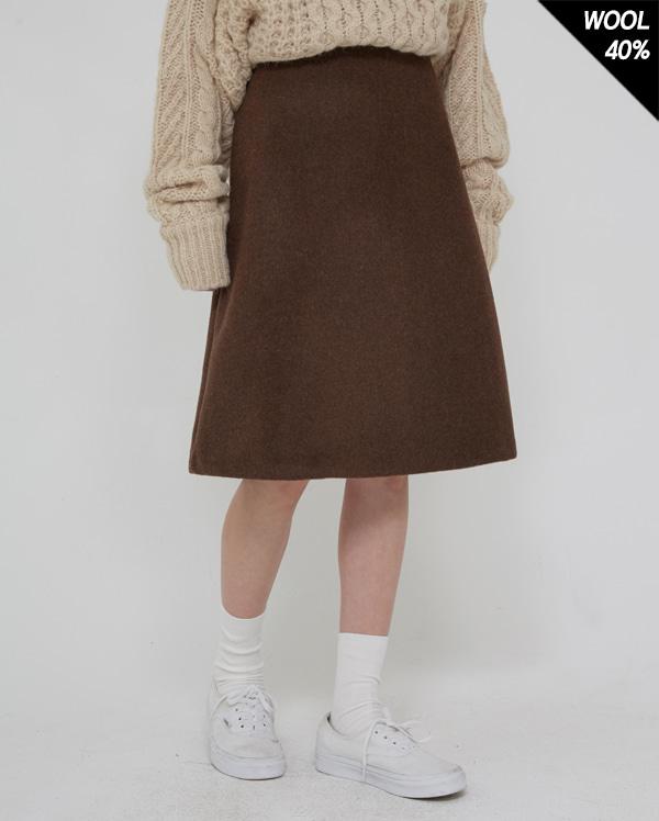 wool mixed midi skirt (s, m)